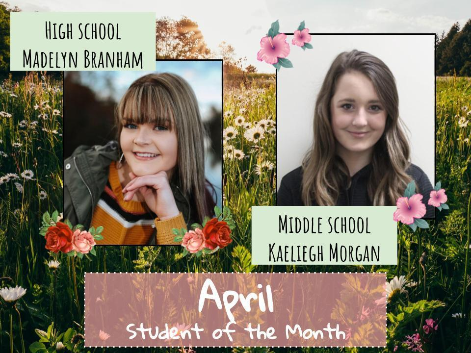 April: Student of the Month