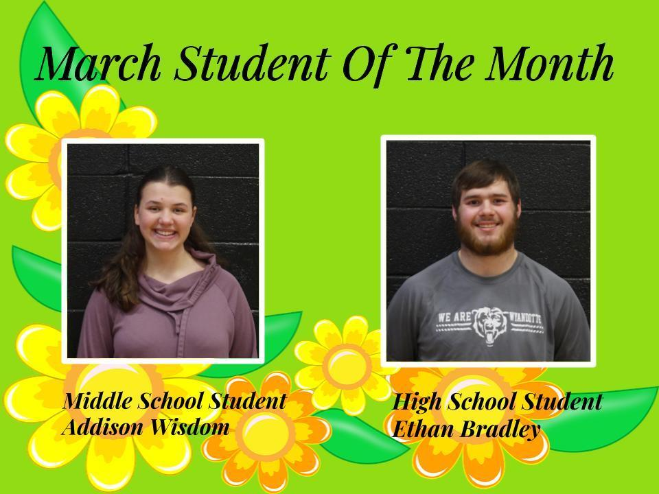 March: Student of the Month