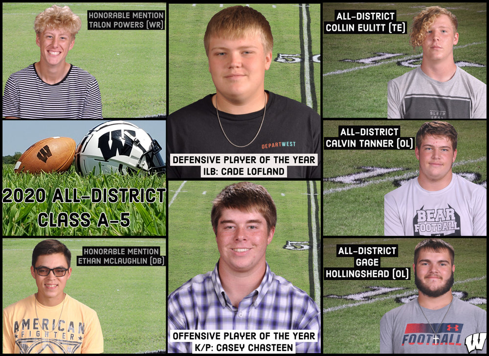 Football: All-District Class A-5 Announced