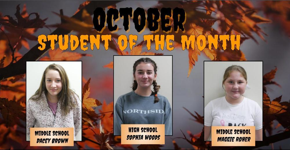 October: Student of the Month