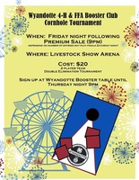 Wyandotte 4-H & FFA Booster Club Cornhole Tournament