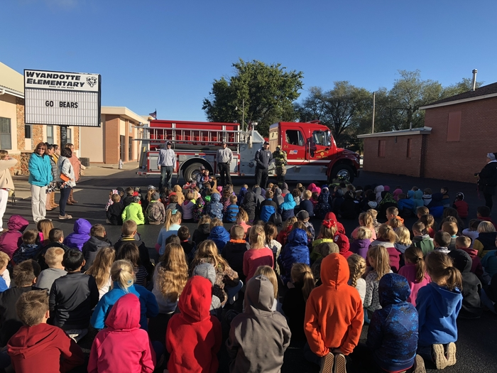 Wyandotte Nation Fire Department visits WES!