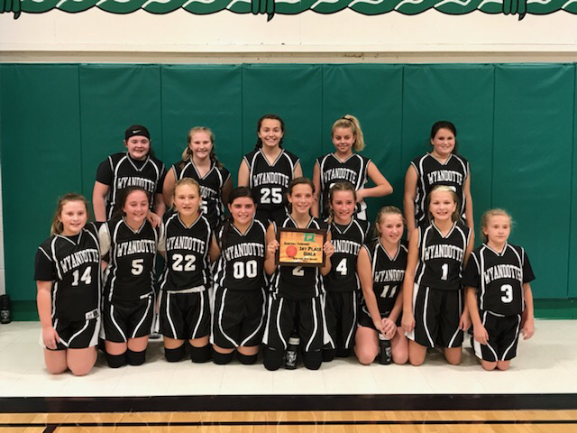Wyandotte 6th Girls win the Quapaw Tournament