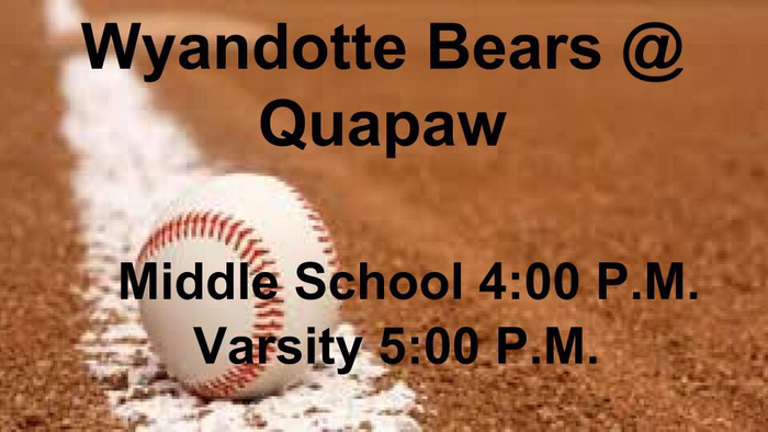Bears vs Quapaw Baseball