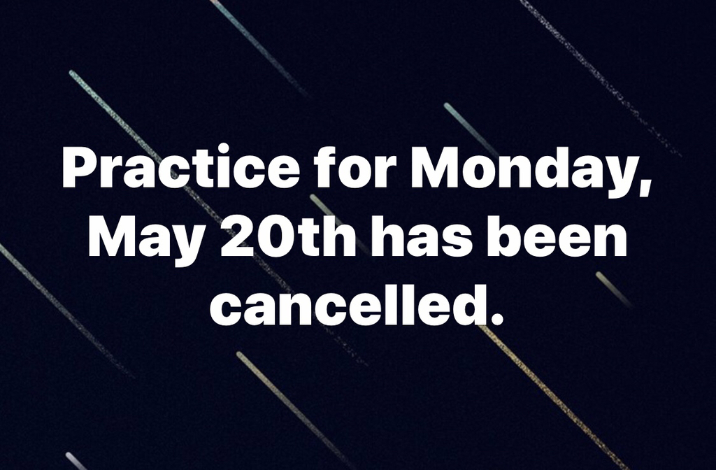 Bears Practice Cancelled Monday