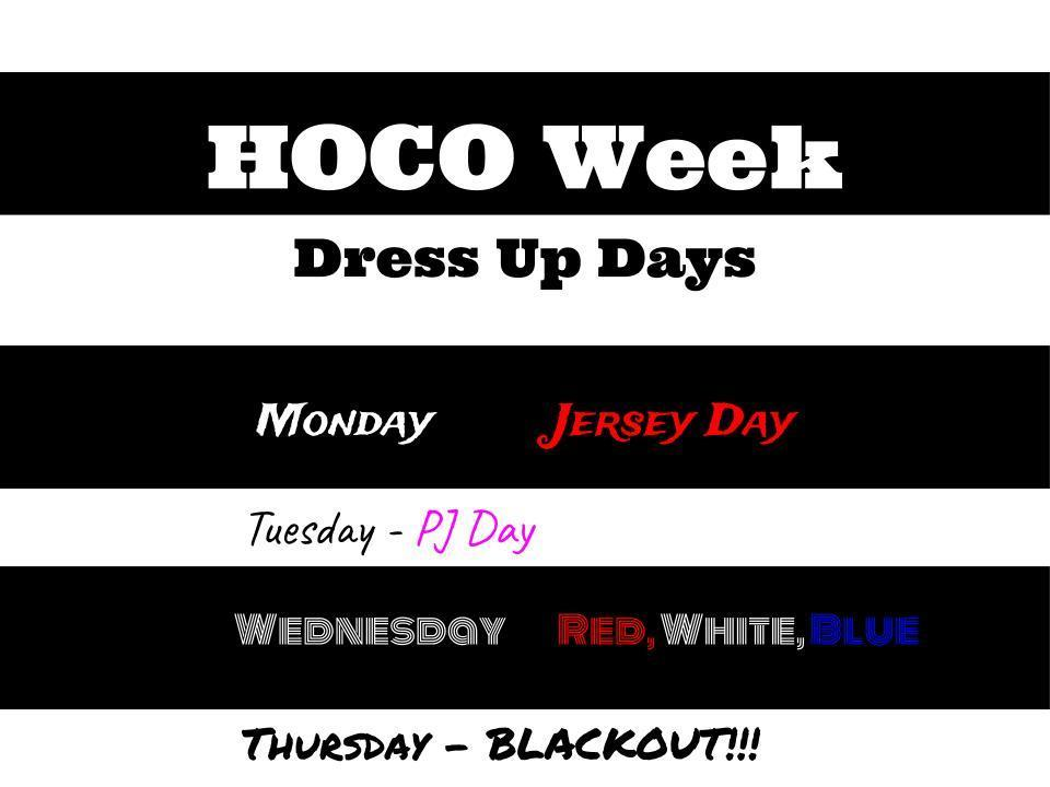 HOCO 2019 Dress Up Days