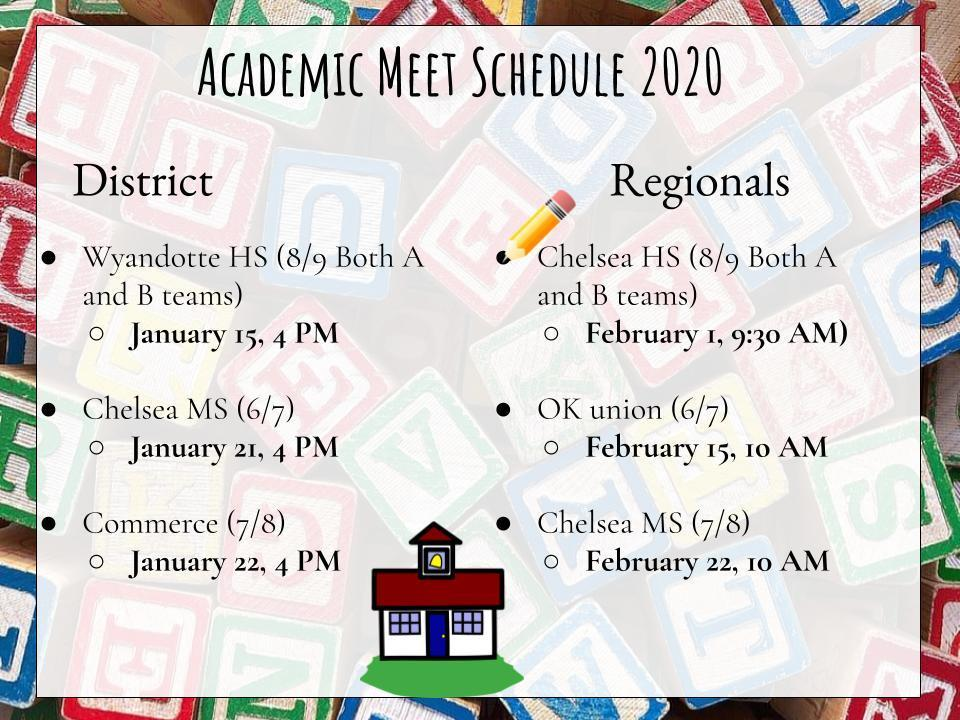 Academic Meet Schedule