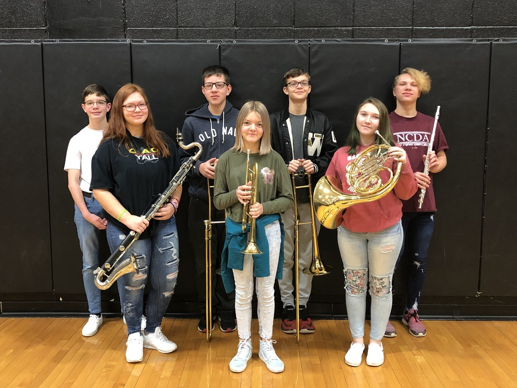Wyandotte Honor Band Students 2020